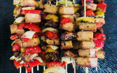 Asian-Style Tofu & Vegetables Kebabs