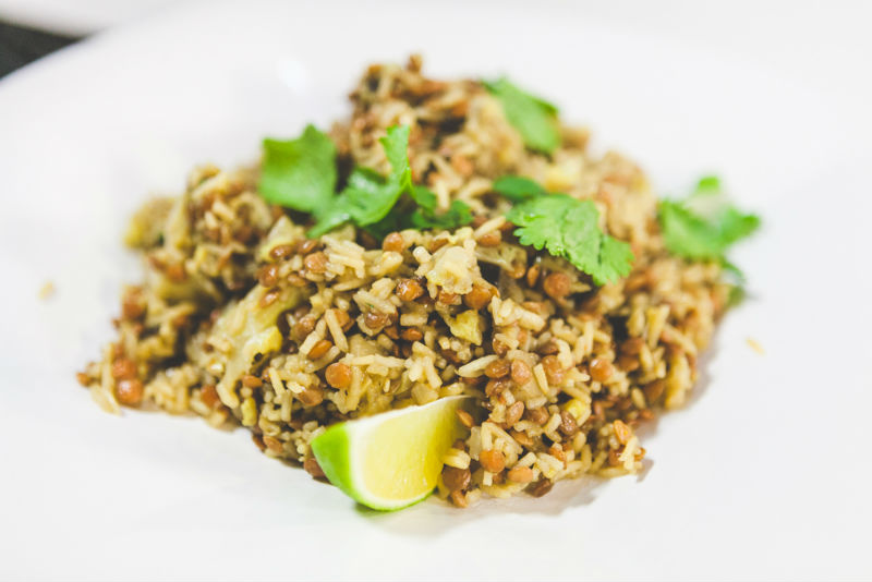Lentil and Cauliflower Pilaf