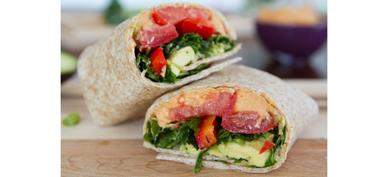 Wrap Rolls with Hummus
