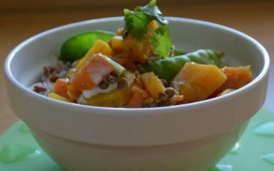 Thai Pumpkin & Sweet Potato Curry Rice