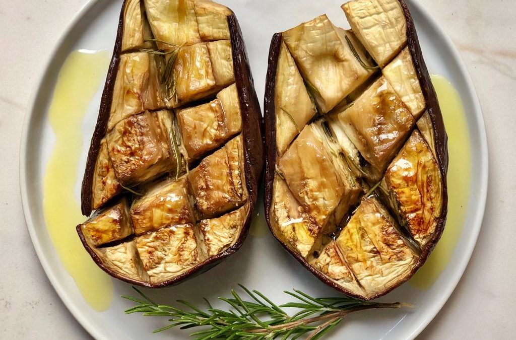 Rosemary infused aubergine