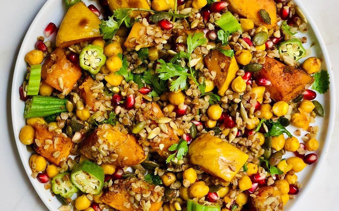 Autumn Butternut and Pomegranate salad