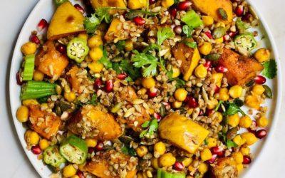 Autumn Butternut and Pomegranate salad